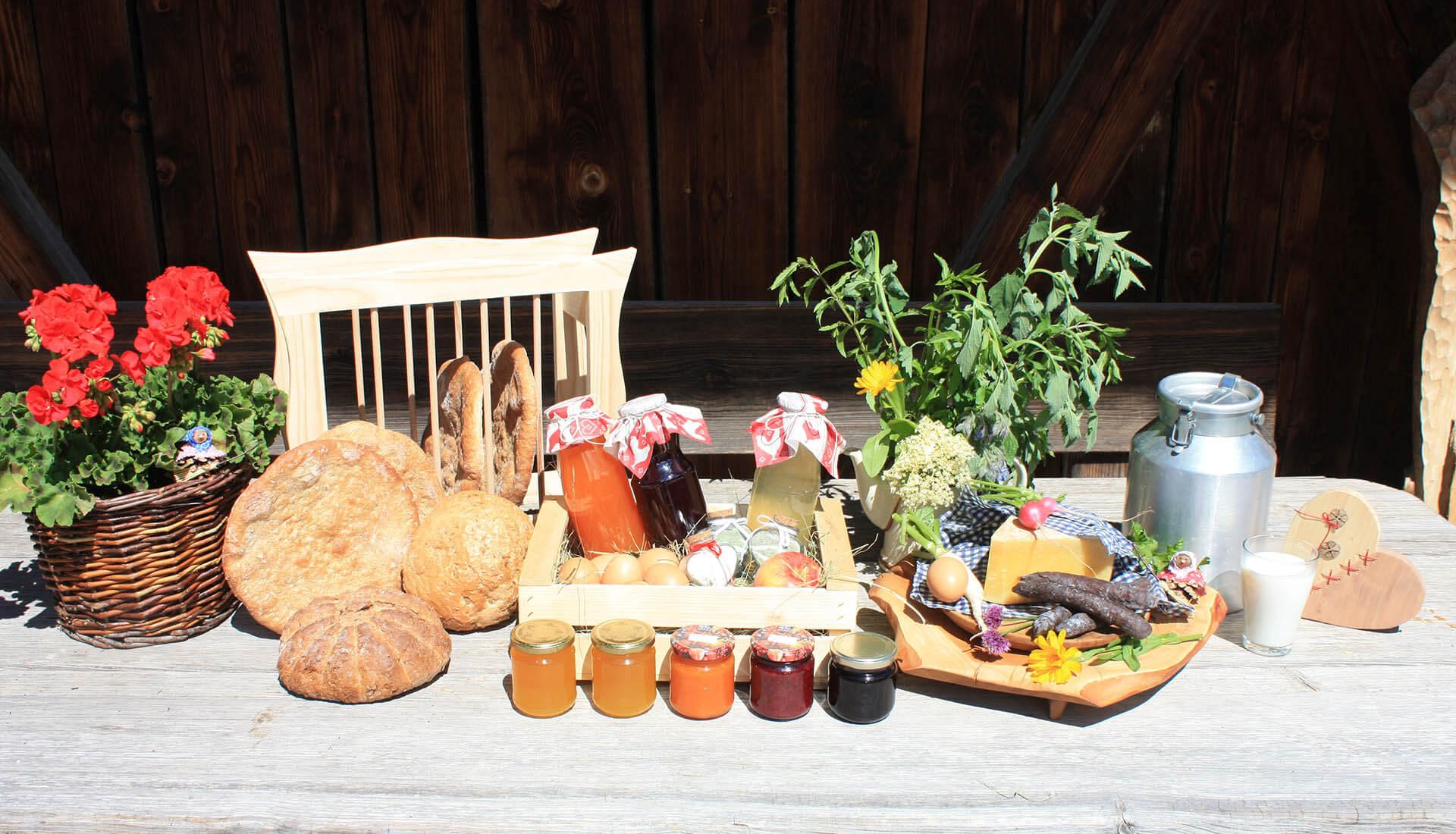 Leckere Hofprodukte aus Kastelruth
